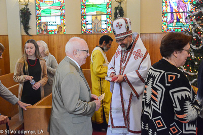 Greeting His Eminence Archbishop Daniel. Holy Liturgy Name of the Lord, St. Basil the Great.