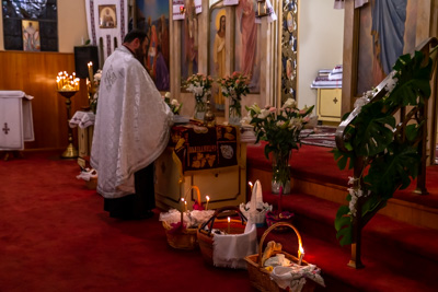 Easter Matins. Paschal Procession followed by Paschal Matins and Blessing of Baskets