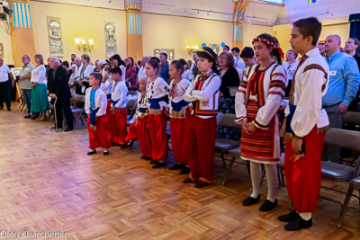 Celebrating the 28th anniversary of Ukrainian Independence.  Festive concert and dinner in Ukrainian Cultural Center.